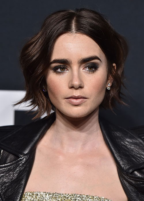 Lily Collins Smoky eye