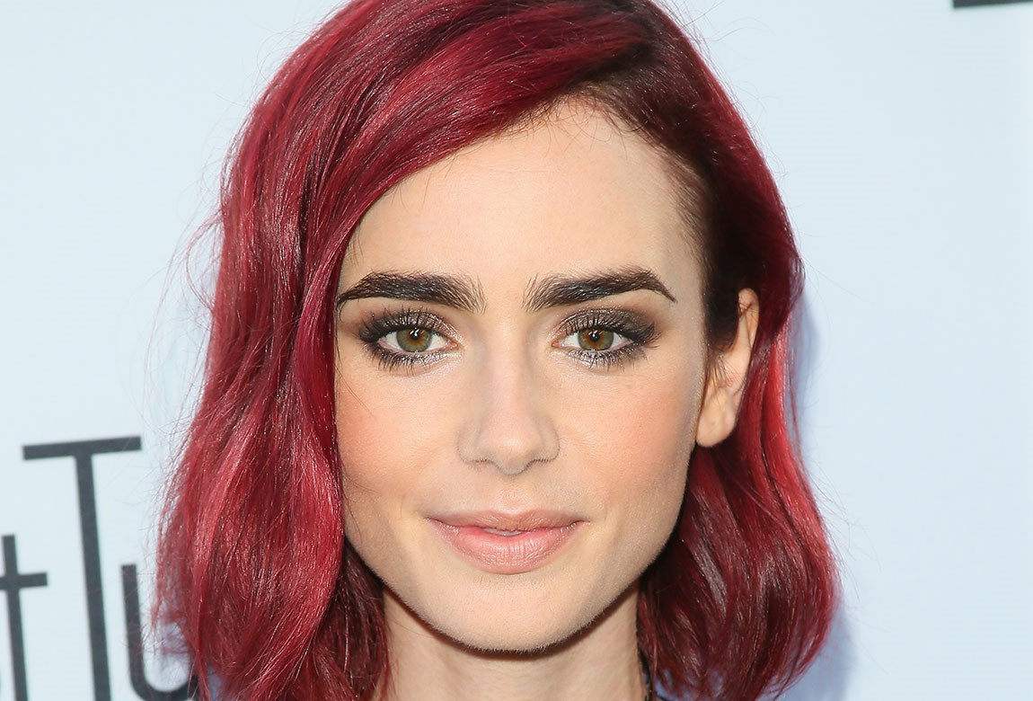 lily collins bold hair transformation you need to see