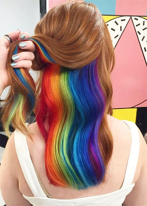 The Next Rainbow Hair Trend Is Here Beauty Crew