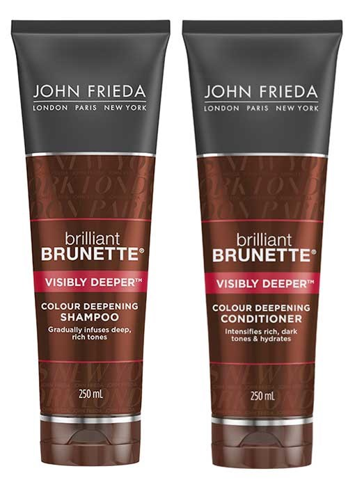 JOhn Frieda Brilliant Brunette Visibly Deeper Shampoo and Conditioner