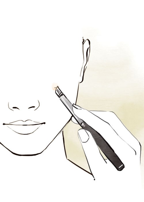 Use a lip brush to conceal