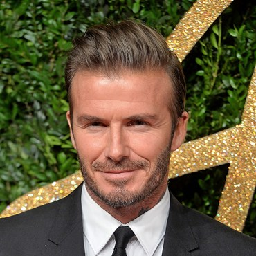 David Beckham apparently steals his wife's makeup