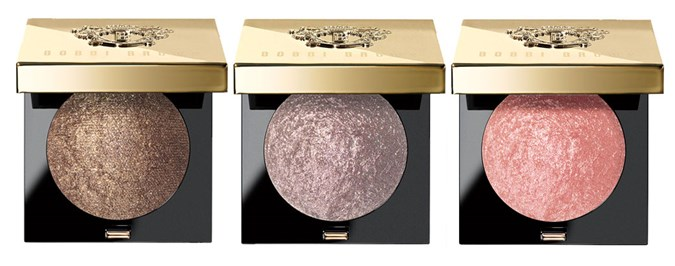 Bobbi Brown Sequin Eye Shadows in Golden Chocolate, Silver Heather and Rose Gold