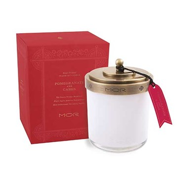 MOR Scented Home Library Fragrant Candle in Pomegranate and Cassis