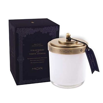MOR Scented Home Library Fragrant Candle in Strawberry and White Jasmine