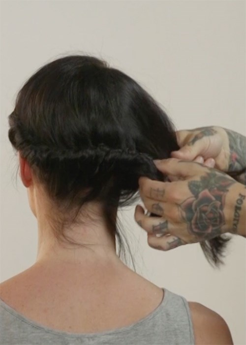 How To Master The Twisted Updo For Short Hair Beauty Crew