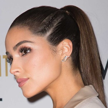Recreate Olivia Culpo's striking braided ponytail