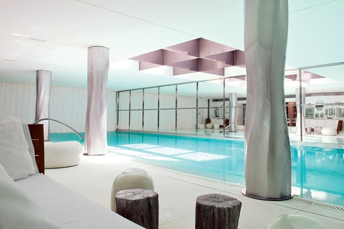 The spectacular pool at Spa My Blend by Clarins, in Paris