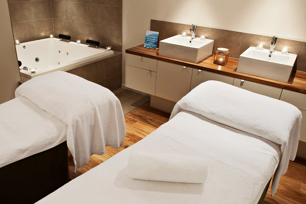 A treatment room at Endota Spa