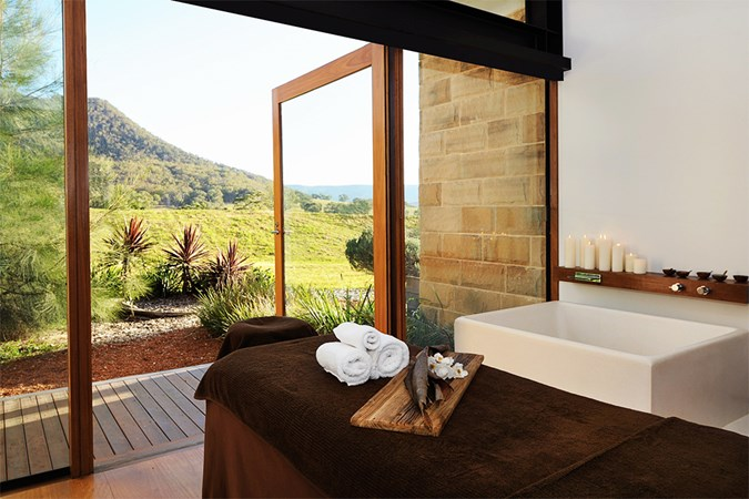Treatment rooms with an outback view at the ultra-chic One&Only Spa