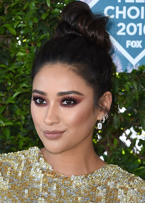 Shay Mitchell Topknot