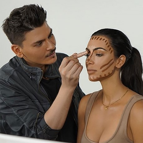 Kim Kardashian KKW Beauty makeup routine