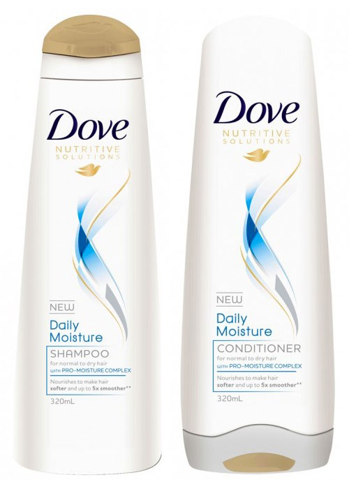 dove daily moisture shampoo and conditioner