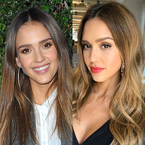 Best celebrity hair transformations of 2017 beautycrew jessica alba pmusecretfo Image collections