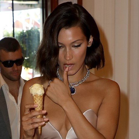 Bella Hadid Ice Cream