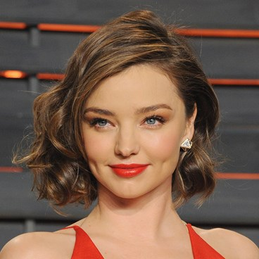 Miranda Kerr bob red lip