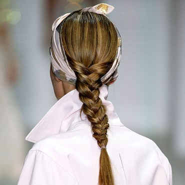 London Fashion Week ponytail