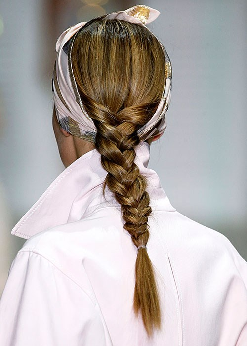 London Fashion Week ponytail Temperley London