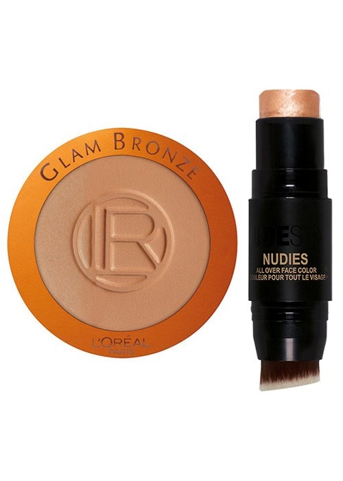 L'Oréal Paris Glam Bronze Mono and Nudestix Nudies All Over Face Color Bronze + Glow in Hey, Honey