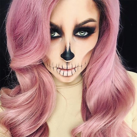 2017 Halloween Makeup Tutorials Skull