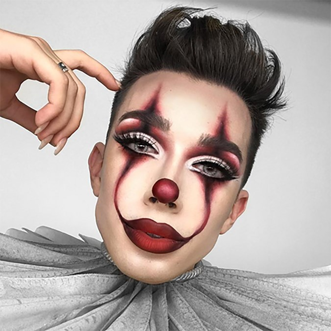 James Charles Pennywise clown makeup Halloween