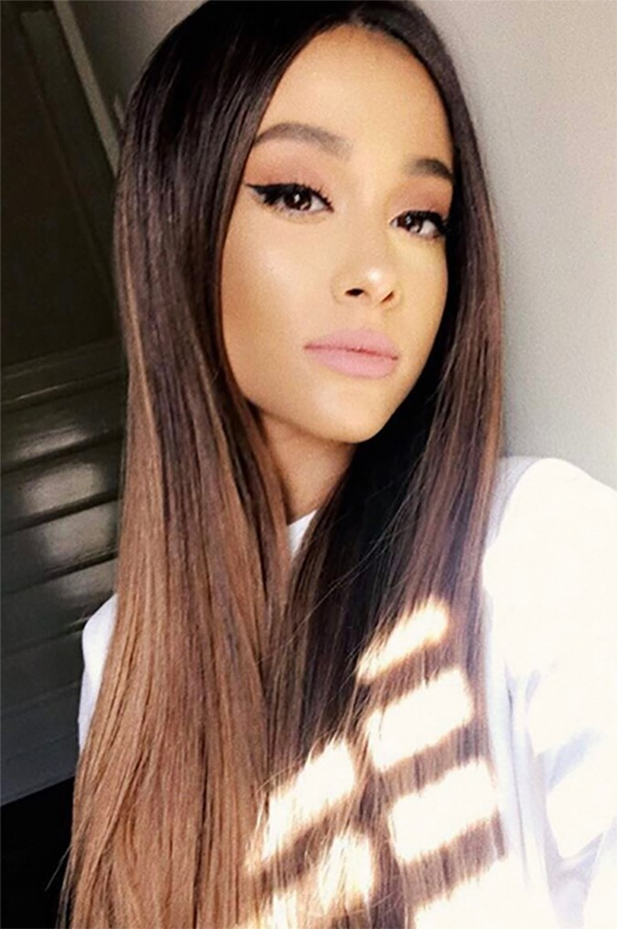 ariana grande reveals the secret to her long hair beauty crew