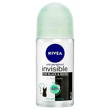 NIVEA Invisible For Black & White Fresh Roll-On Deodorant