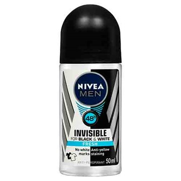 NIVEA MEN Invisible For Black & White Fresh Roll-On Deodorant