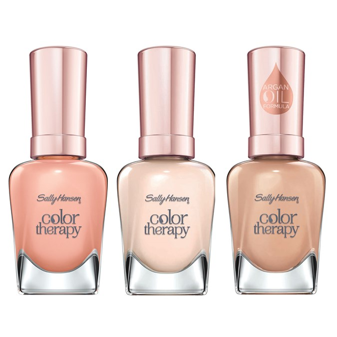 Sally Hansen Color Therapy Nail Colour in Couple's Massage, I Dream Of Cream and Toffee Temptations