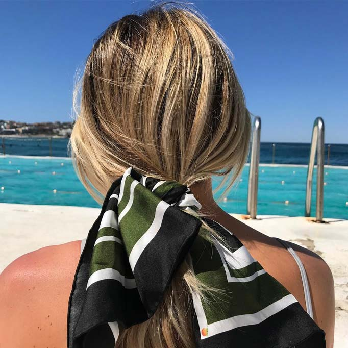 how to make a hair scarf