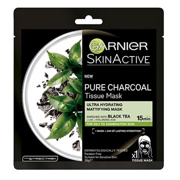 Garnier SkinActive Pure Charcoal Tissue Mask with Black Tea