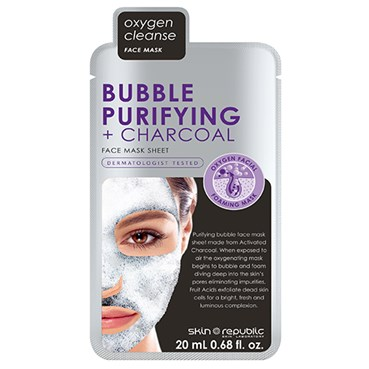 Skin Republic Bubble Purifying + Charcoal Face Mask Sheet