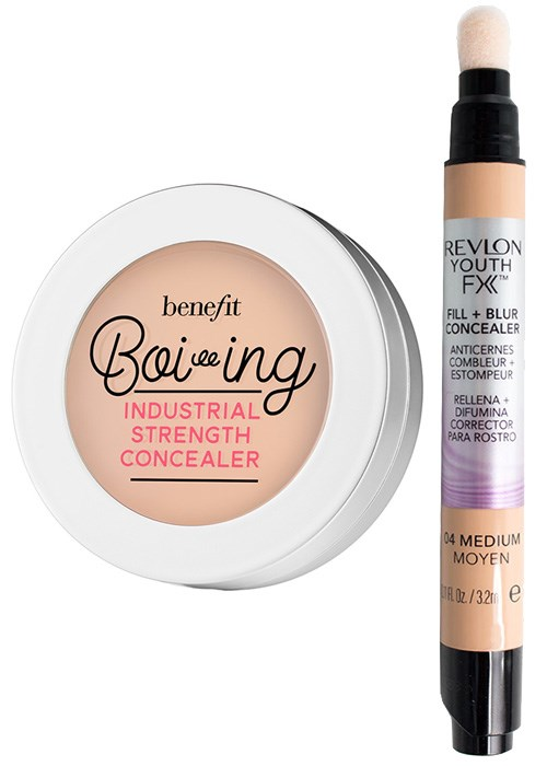Benefit Boi-ing Industrial Strength Concealer & Revlon Youth FX Fill + Blur Concealer