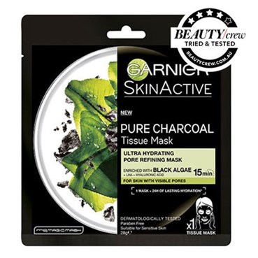 Garnier SkinActive Pure Charcoal Tissue Mask with Black Algae