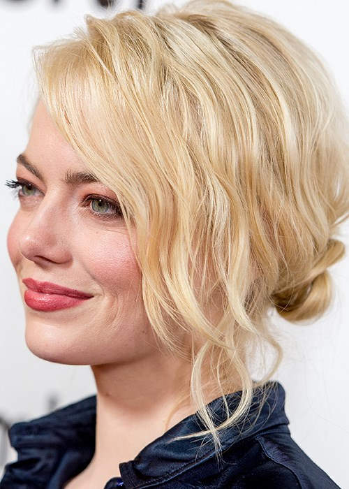 Hair How-To: Imperfectly Perfect Swept-Up Bun - Emma Stone