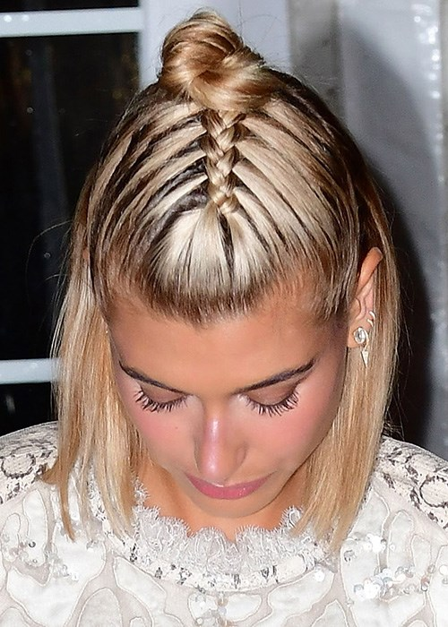 The cool-girl half-up braided bun