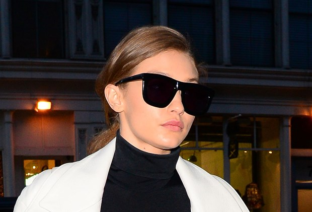 Gigi Hadid black sunglasses