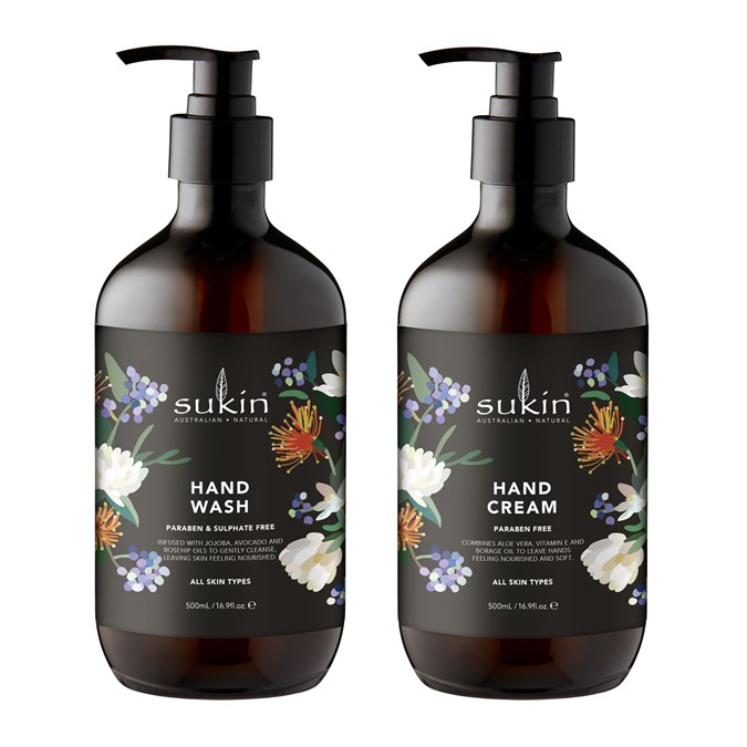 Sukin Kimmy Hogan Limited Edition Hand Wash & Cream Duo