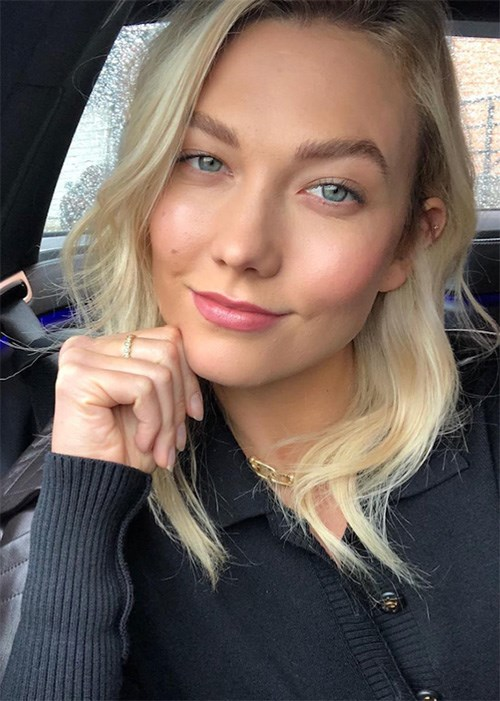 Karlie Kloss glowing skin