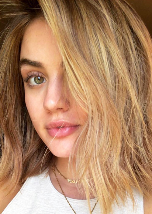 Lucy Hale Is A Brunette Again Beauty Crew