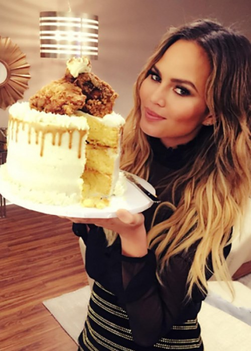 Chrissy Teigen Chicken Cake
