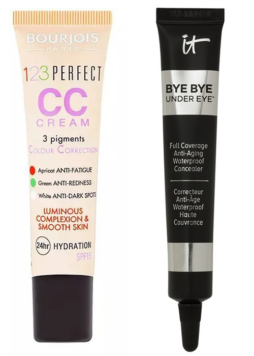 Bourjois 123 Perfect CC Cream and It Cosmetics Bye Bye Under Eye Anti-Aging Concealer
