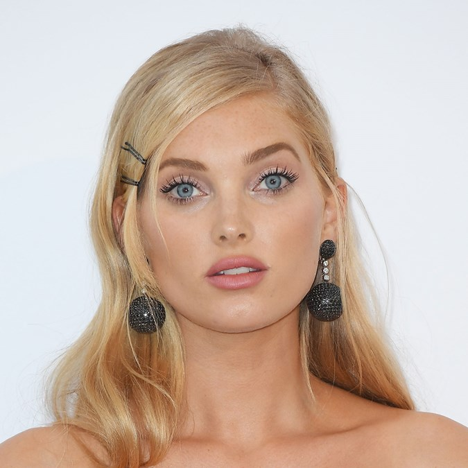 Elsa Hosk bobby pins hair