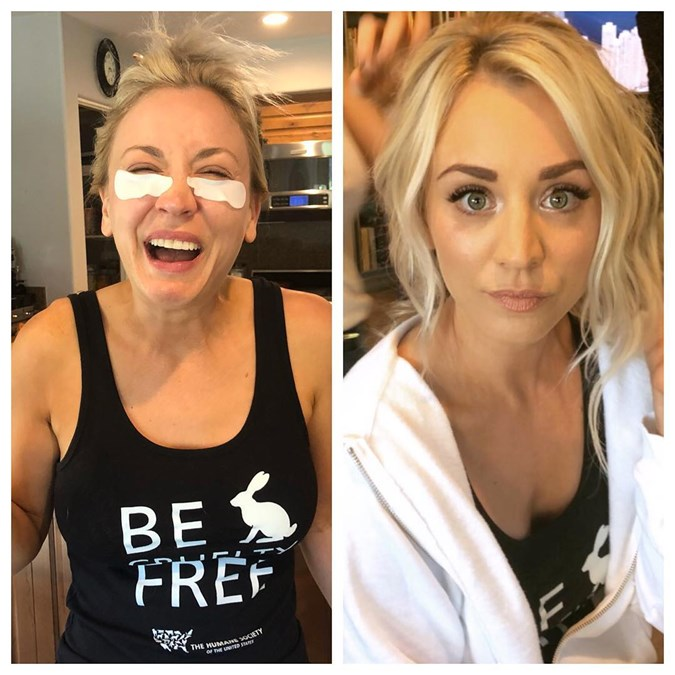 Celebrity Wedding Makeup Products - Kaley Cuoco