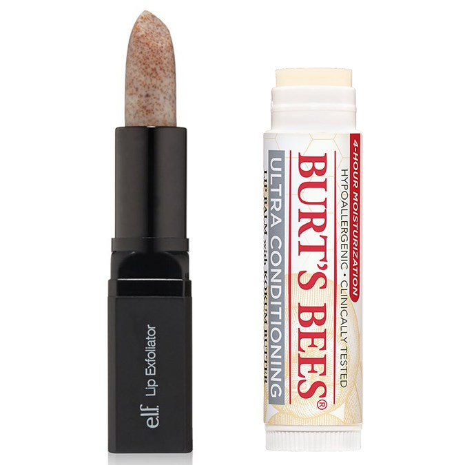 e.l.f Lip Exfoliator and Burt's Bees Ultra Moisturizing Lip Treatment