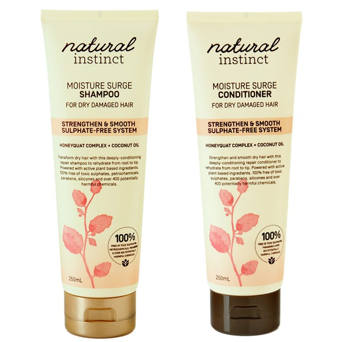 Natural Instinct's Moisture Surge Shampoo and Conditioner