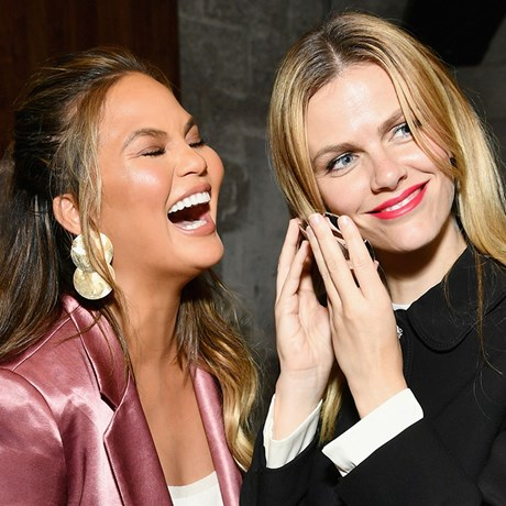 Chrissy Teigen and Brooklyn Decker show off pimples