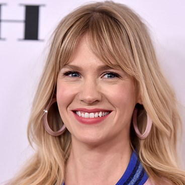 January Jones' winged eyeliner look