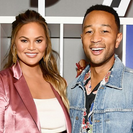 Chrissy Teigen and John Legend wear matching sheet masks