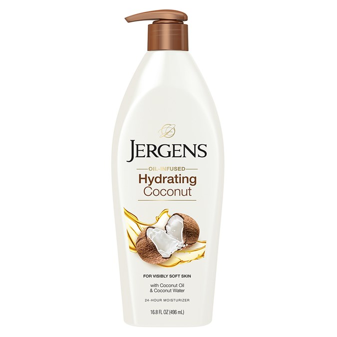jergens oil infused hydrating coconut moisturiser review beauty crew